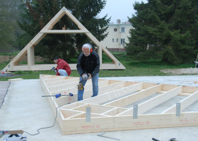 1-Gable points for 45° roof