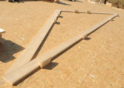 Bottom chord (30° roof truss)