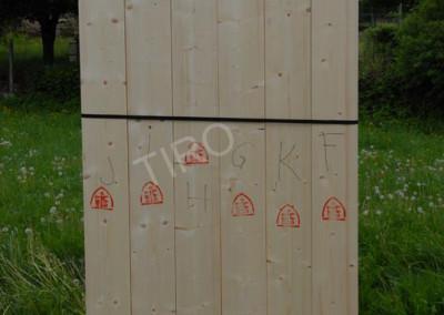 Timber framed house walls