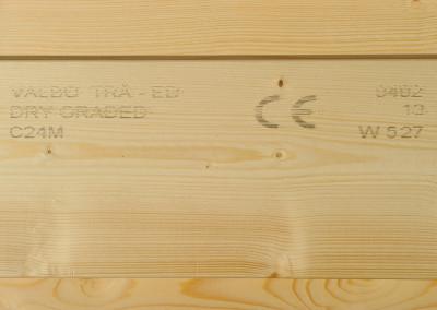 Stress graded timber
