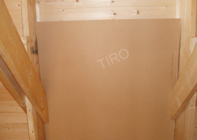 3-Hardboard panels for roof ventilation