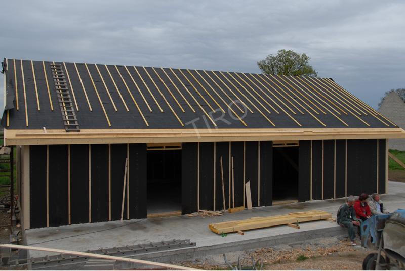 Sous-toiture feutre bitumé maison ossature bois - Tiro - Timber Framed houses