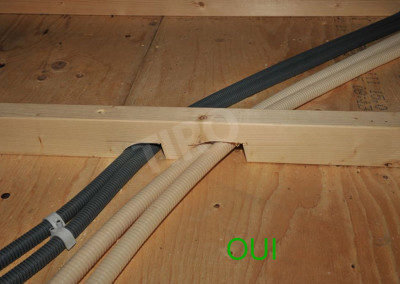 1-Floor joist framing on a crawl space