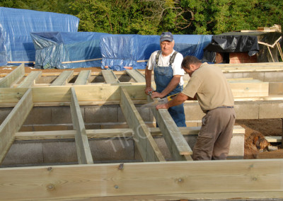 2-Floor joist framing for garages