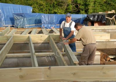2-Floor joist framing for garages